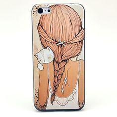 Mooi Meisje Pattern Hard Case voor iPhone 5C – EUR € 2.75