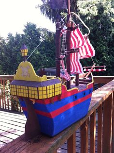 Pirate Ship pinata by PinataVille on Etsy, $85.00 FREE SHIPPING!