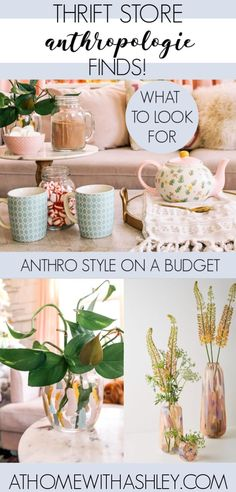 Anthropologie style at the thrift store. Thrift shop home finds that you can DIY to create prettty decor- even some Christmas ideas! Tips and inspiration for how to upcycle thrift store finds- perfect for the living room, kitchen, or bedroom store crafts Thrift Store Diy Clothes, Thrift Store Furniture, Thrift Store Shopping, Thrift Store Crafts, Thrift Store Finds, Thrift Stores, Thrift Store Decorating, Anthropologie, Design Exterior