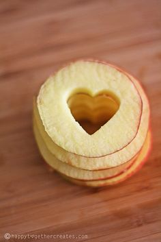 Healthy Apple Treats... but you could always add chocolate or peanut butter :)