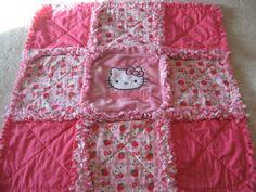 Hello Kitty Baby Girl Security Lovey Mini Quilt by farmernurse