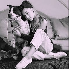 Two of the cutest things ever in one picture (apparently ari and dogs are things according to my caption?) by the.luves