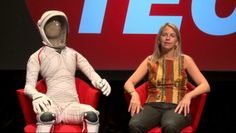 """Shorts: Dava Newman's streamlined flight suit by PopTech. MIT aeronautics professor and engineer Dava Newman had a dream: that of a slimmed down astronaut. See the streamlined, mobility-enhancing """"Bio-Suit"""" she created for protecting astronauts from atmospheres and healthcare workers from germs."""