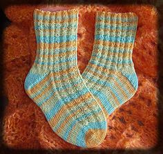 Waffle Stitch Toe Up Socks By Wilma by Wilma Becker ~ free pattern on Ravelry