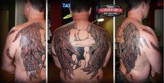 Tattoo par Gaëlle, L'atelier du Corps Tattoo, Longueuil. (deux session, 4h+ 3h) #tattoo #Archange