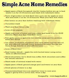 Simple Acne Home Remedies
