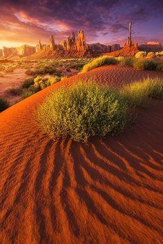 Monumental Sunrise epic desert landscape Monument Valley Utah by Roa Landscape Photography Tips, Landscape Photos, Nature Photography, Desert Landscape, Monument Valley Utah, Parcs, Dark Fantasy, Nature Pictures, Amazing Nature