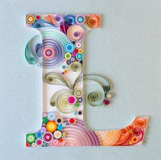 40 Examples of Creative Paper Typography Art By Anna Chiara Valentini quilling Arte Quilling, Quilling Letters, Paper Quilling Patterns, Quilled Paper Art, Quilling Paper Craft, Paper Crafts, Paper Letters, Quilling Ideas, Creative Typography