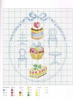 вышивка крестом миниатюры десерт: 26 тыс изображений найдено в Яндекс.Картинках
