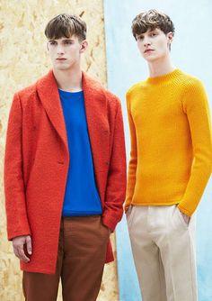 Contrasted Color Menswear : Color-Blocking Menswear Editorials