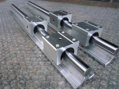 Package:2 X SBR20-1500mm 20 MM FULLY SUPPORTED LINEAR RAIL. 4 X SBR20UU Motion Router Solide Block. Length: 1500mm. The shaft is case hardened. If you use normal steel shafts, the bearings will cut them up in no time.