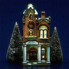 """Department 56: Products - """"Village Post Office"""" - View Lighted Buildings"""