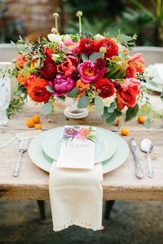 Wedding Ideas By Colour: Bright Wedding Flowers - Floral decor | CHWV #wedding #decor #bride #groom #summerwedding #weddingdecor #diy #bohowedding #weddingdecoration