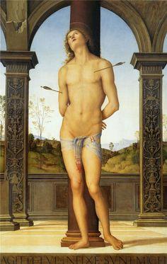 St. Sebastian tied to a Column, 1500-1510 Pietro Perugino