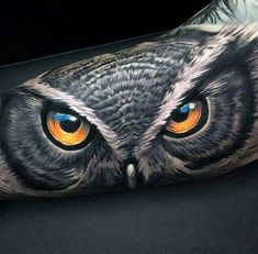 3d Badass Animal Owl Eyes Mens Sleeve Bicep Tattoo Design Inspiration tatuajes   Spanish tatuajes http://amzn.to/28PQlav