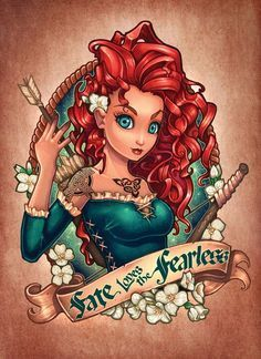 Going on a Disney Cruise? Need some magnets to decorate your door? This door magnet features a sexy, reimagined Merida from Brave. The magnet is postcard-size (approximately I only ship within the United States. Disney Pin Up, Film Disney, Disney Fan Art, Disney Movies, Image Princesse Disney, Disney Princess Tattoo, Punk Princess, Princess Jasmine, Dark Disney Princess