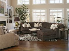 Beautiful sectional by Flexsteel ~ Your family will love gathering together in a room with this furniture! http://www.interiors-furniture.com/