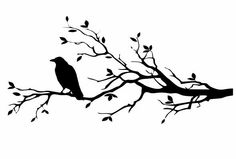 A personal favorite from my Etsy shop https://www.etsy.com/listing/248276401/raven-on-branch-large-decal-raven-decals