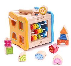 Multifunction Preschool Early Educational Development Wooden Puzzles Toy Box Birthday Gift Toy for Age 3 4 5 Child Kids Toddlers Baby Boys Girls *** Find out more about the great product at the image link. #LearningandEducation