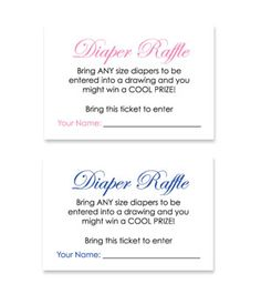 Baby Theme Diaper Raffle Ticket