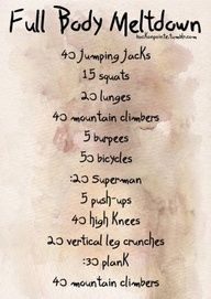 Cross fit workout, starting this week