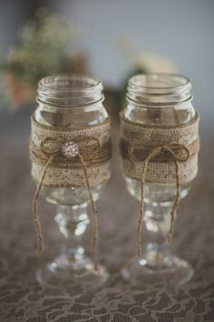 Mason Jar Wine Glasses From Los Angeles Rustic Wedding With Amazing Details And Stunning Ideas