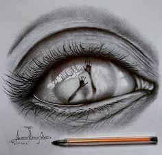 Dark Art Drawings, Pencil Art Drawings, Realistic Drawings, Art Drawings Sketches, Pictures To Draw, Art Pictures, Iris Drawing, Drawing Art, School Planner