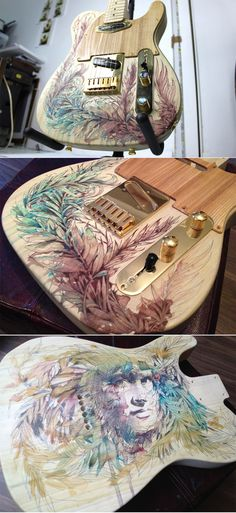 Custom Telecaster Guitar by Carne Griffiths ( https://www.behance.net/gallery/Custome-Telecaster-Guitar/7266537 )