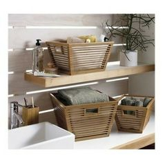 Mejor foto - basket and crate - Basket Crate S .Mejor foto - basket and crate - Basket Crate S . basket crate Most recent Screen basketandcrate home decor basket and crate Most Bamboo Bathroom, Tropical Bathroom, Small Bathroom, Bathrooms, Bathroom Ideas, Home Decor Baskets, Basket Decoration, Crate Shelves, Storage Shelves
