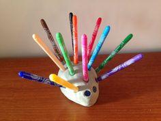 Image result for hedgehog pen holder
