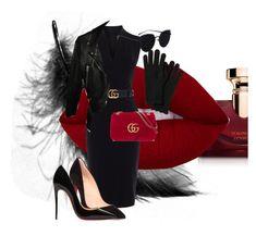 """Gucci"" by claudiaparrish on Polyvore featuring moda, Bulgari, Karen Millen, Gucci, Acne Studios, Christian Louboutin, red, classy, Elegance i gucci"