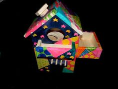 3-story house by Twilight Chinchillas, custom made for me in Romero Britto style