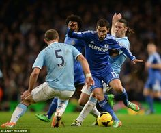 Feb. 3rd. 2014: Eden Hazard gets the better of both Pablo Zabaleta and Demichelis and put in a brilliant 'Messi-esque' performance.
