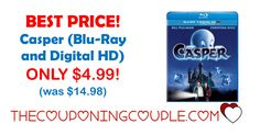 PERFECT for ALL AGES! Get Casper (Blu-Ray and Digital HD) on Amazon right now for only $4.99.   Click the link below to get all of the details ► http://www.thecouponingcouple.com/casper/ #Coupons #Couponing #CouponCommunity  Visit us at http://www.thecouponingcouple.com for more great posts!