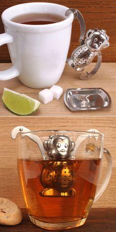 Infusores muito criativos, porque chá também precisa de design