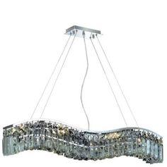 "Dakota - Hanging Fixture (6 Light Traditional Hanging Crystal Chandelier) - 1736D30  ➤ Dimensions: L 30"" x W/D 5"" x H 6"""