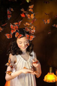 Оранжевый мир от Эндриен Брум (6 фото)