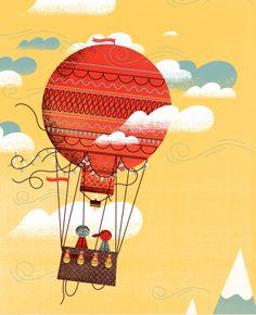 Hot Air Balloon by Hylton Warburton, via Behance