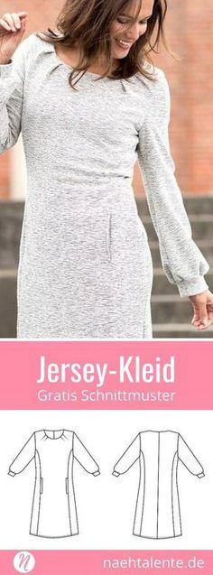 Gratis Schnittmuster Jerseykleid Damen kostenlos