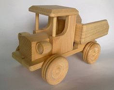Handmade Wooden Dump Truck - eco-friendly organic toy for kids on Etsy, $21.42
