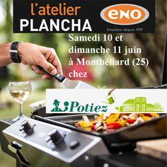 Atelier Plancha ENO samedi 10 et dimanche 11 juin à la Jardinerie Potiez à Montbéliard (25) - Cours de cuisine à la plancha avec un chef pour apprendre à cuisiner sur la Plancha ENO. Conseils et astuces de cuisson et de nettoyage. Cours de cuisine sur réservation auprès du magasin au 03 81 90 06 06