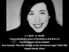 """▶ J. S. Bach-M. Howe - Transcription for piano of """"Schafe Können Sicher Weiden"""" - A. Hewitt, piano - YouTube"""