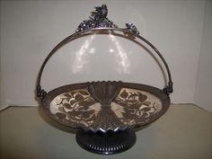 Stunning Antique Victorian Meriden B Company Silver Plate Brides Basket 1886 #MeridenBritannia