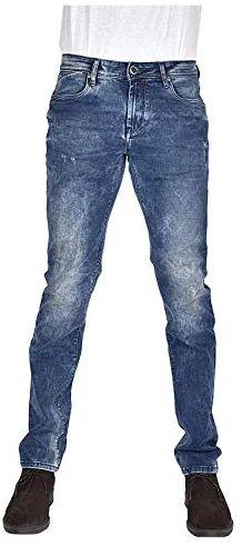 YellowJeans Men's Slim Fit Jeans (Cloud wash with mid-Blue Shades, 28W x 42L) Yellow Jeans, Slim Man, Jeans Fit, Fitness, Pants, Blue, Men, Fashion, Trouser Pants