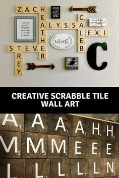 Scrabble Tile Wall Decor Sign Up To Receive Our Newsletter And Get An 10% Off Your Order