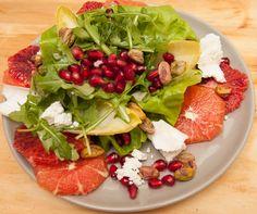 The Vert salad: pomegranate, pistachios, dill, blood oranges, cara ...