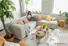 Cozy living room: 5 styling tips with the Fest Amsterdam sofa - Decorate your living room? My 5 styling tips for a cozy sitting area with the Dunbar from FEST Amst - Mint Living Rooms, Boho Living Room, Cozy Living Rooms, Home And Living, Living Spaces, Ikea Bank, Wedding Photo Walls, Ikea Couch, Besta
