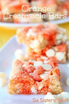 Orange Creamsicle Bars on SixSistersStuff.com