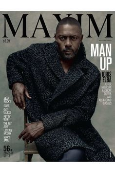 August 5 Idris Elba becomes the first ever male to appear solo on the cover of Maxim Magazine. It is the second world record that The Wire star has broken in less than three months, having driven a Bentley Continental GT Speed at 180.361 mph across Pendine Sands in Wales in May, breaking the 88-year-old previous record.