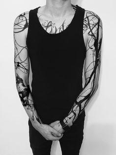 blackout tattoo all black * blackout tattoo all black _ blackout tattoo all black street styles Tattoos For Women Half Sleeve, Shoulder Tattoos For Women, Back Tattoo Women, Full Sleeve Tattoos, Arm Tattoos For Guys, Tattoo Shoulder, Women Sleeve, Blackout Tattoo, Arm Tattoos Black And Grey